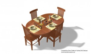 TurboCAD-Deluxe-Table-Setting