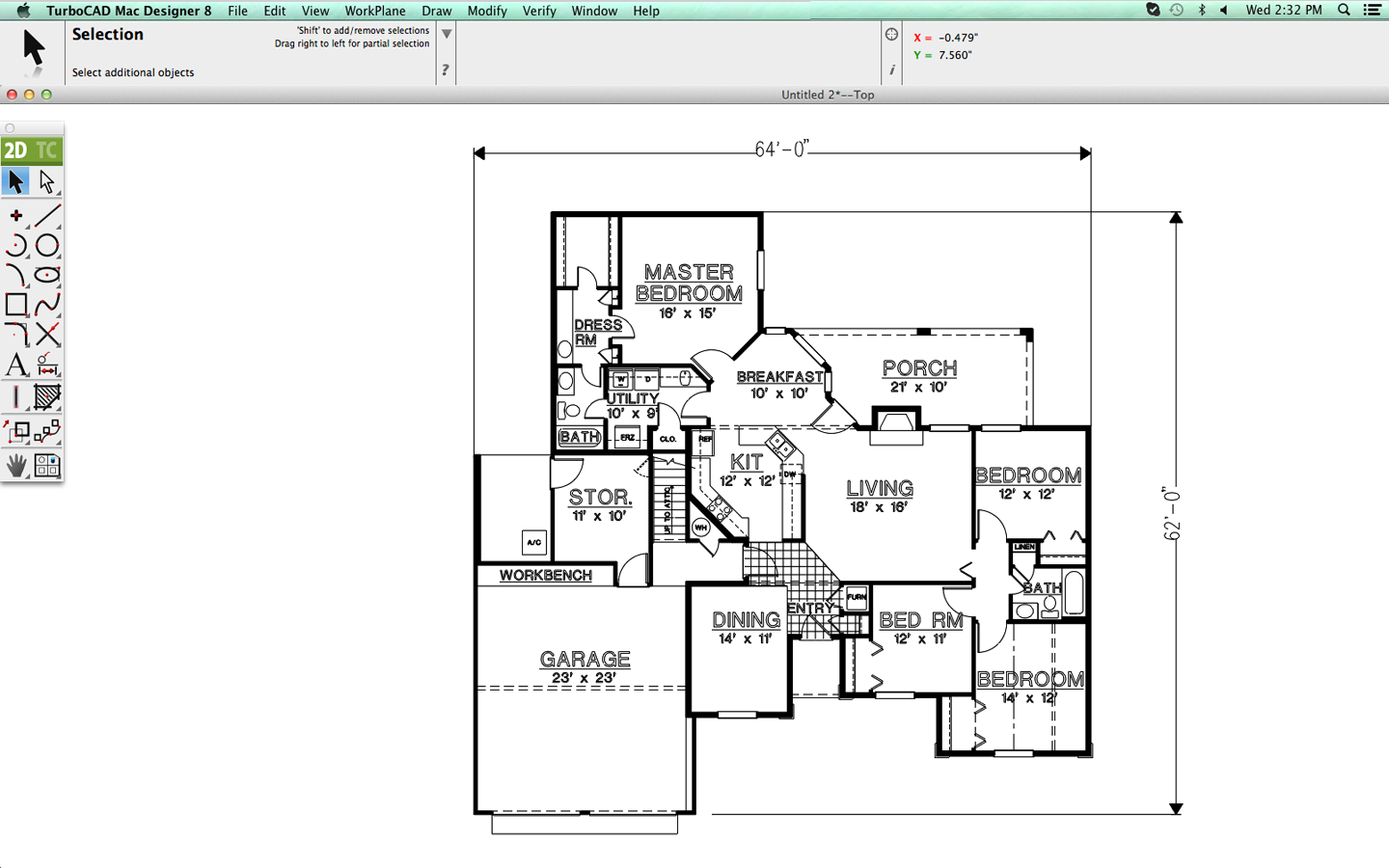TurboCAD Mac Designer Floorplan