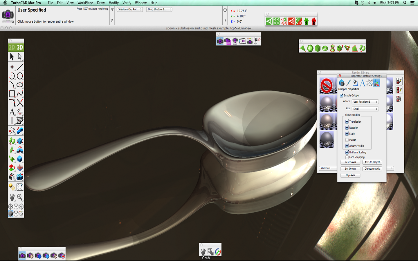 TurboCAD-Mac-Rendered-Spoon